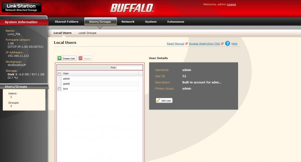 NAS_Buffalo-user