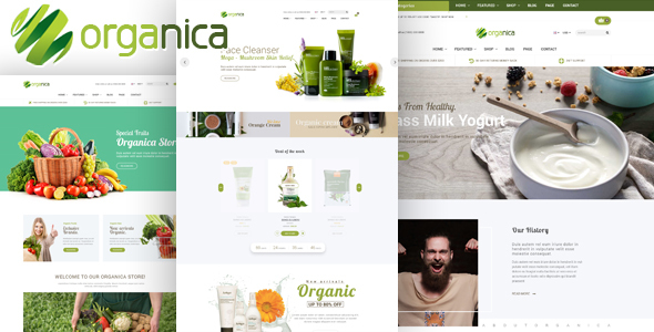 Organica – Organic, Beauty, Natural Cosmetics, Food, Farn and Eco WordPress Theme